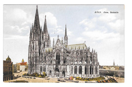 Germany Cologne Cathedral Koln Dom Sudseite Vtg Karl Rud Postcard - $5.81