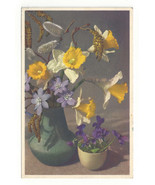 Narcissus Pussy Willow Violet Thor E Gyger Spring Flower Postcard Switze... - $7.56