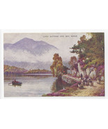 UK Scotland Loch Katrine and Ben Venue Valentines Artcolour Vintage Post... - $7.56