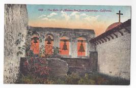 Mission San Juan Capistrano Bells California CA Vintage Postcard - $7.56