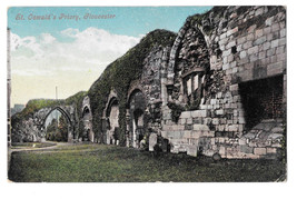 UK St. Olswald's Priory Gloucester Vtg Valentine's Series Postcard 1909 - $7.56