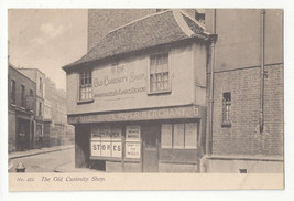 UK England London Old Curiosity Shop Waste Paper Merchant Sign Vtg Postcard - $7.56