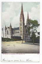 Pittsburgh PA St Pauls Cathedral UND Vintage Bosselman Postcard Pittsburg - $7.56