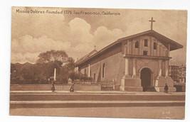 San Francisco CA Mission Dolores Vintage SPC Sepia Postcard - $7.56