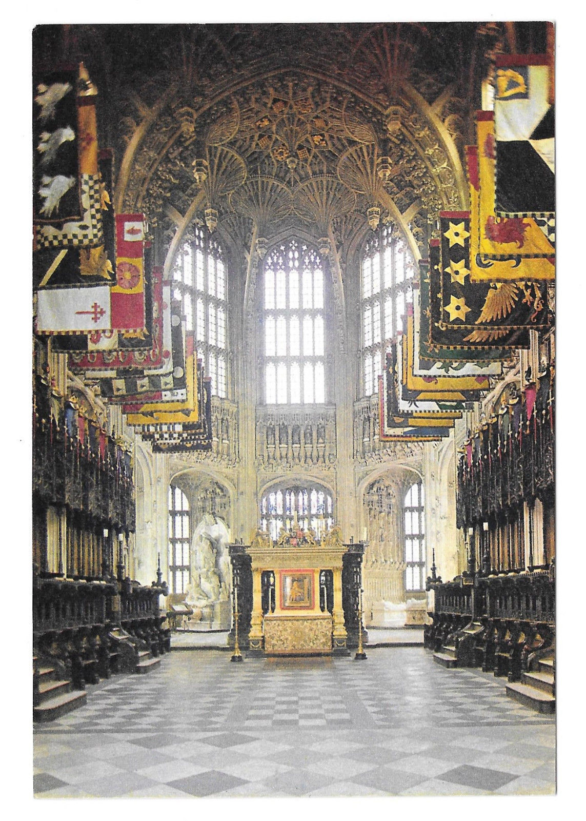 UK London Westminster Abbey Chapel of Henry VII Vtg Arthur Dixon Postcard 4X6