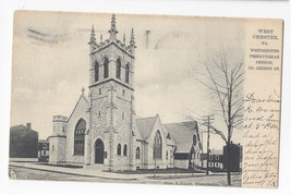 PA West Chester Westminster Presbyterian Church Vtg 1906 Tuck UDB Postcard - $7.56