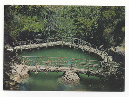 Greece Rhodes Valley of the Butterflies Bridge Pond Rodi Rhodos Vtg Post... - $7.56