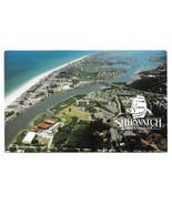 Largo FL Shipwatch Yacht & Tennis Club Aerial View Indian Rocks Beach Br... - $7.56