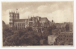 UK London Westminster Abbey from South ca 1920 Photochrom Postcard - $7.56