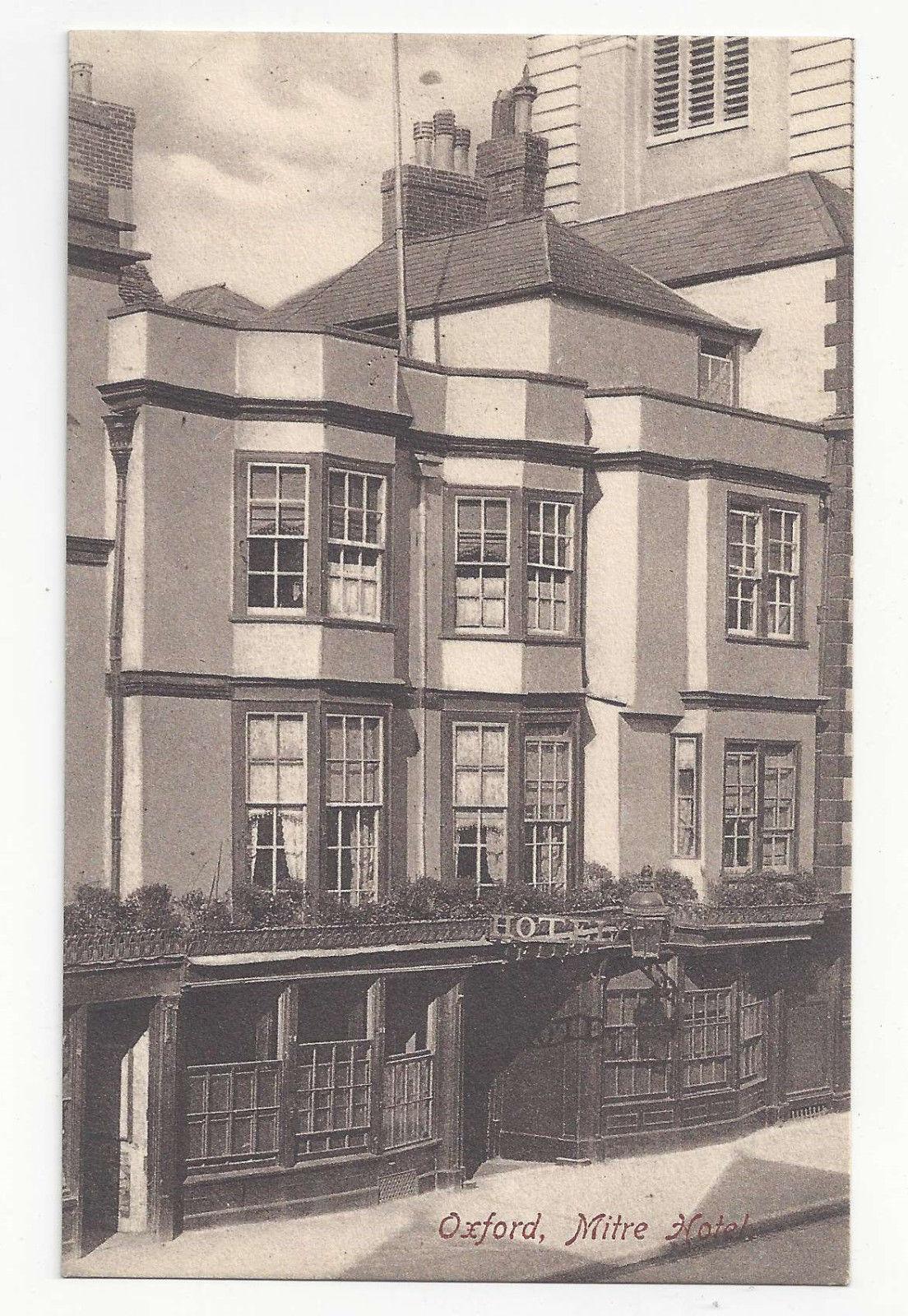 UK Oxford Mitre Hotel Vtg Frith's Postcard