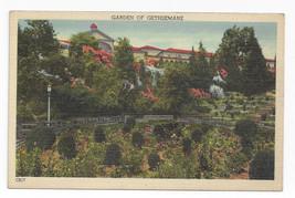 Washington DC Franciscan Monastery Garden of Gethsemane Vintage Linen Po... - $7.56