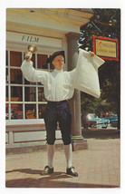 Williamsburg Virginia Town Crier Vintage 1970 VA Postcard - $6.49