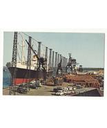 DE Wilmington Marine Terminal Quay Wharf Ship Cars Cranes Vintage Postcard - $6.49