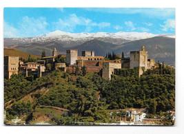 Spain Granada Alhambra Sierra Nevada Panorama Vtg Postcard 4X6 - $6.49
