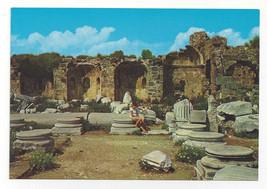 Turkey Side Temple Site Antalya Greek Ruins Vtg Postcard 4X6 - $6.49