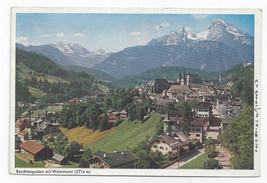 Germany Berchtesgaden Watzmann Bavaria Alps Aerial View Vtg Postcard 4X6 - $4.99