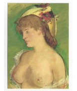 Edouard Manet Blonde with Nude Breasts France Nat'l Museum 1994 Postcard... - $6.49