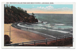 Washington Dead Man's Hollow from Ocean Beach Highway Vintage Postcard - $6.49