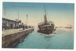 UK Gibraltar Algeciras Steamer and Pier Ship Dock Vtg Postcard c 1910 - $5.81