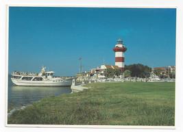 SC HIlton Head Cruise Boat Vagabond Harbour Town Light Vintage Postcard 4X6 - $7.99