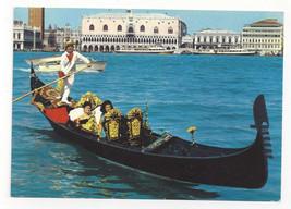 Italy Venezia Gondola Venice Canal Vtg Postcard 4X6 - $6.49