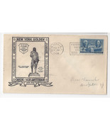 New York Golden Jubilee Federal Hall 1948 Cover Capital New Amsterdam - $6.49