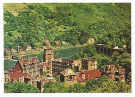 Germany Heidelberg View of Castle from Molkenkur Vtg Von Konig Postcard ... - $6.49