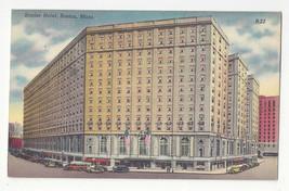 MA Boston Statler Hotel Office Building Park Square District Vtg Linen P... - $6.49