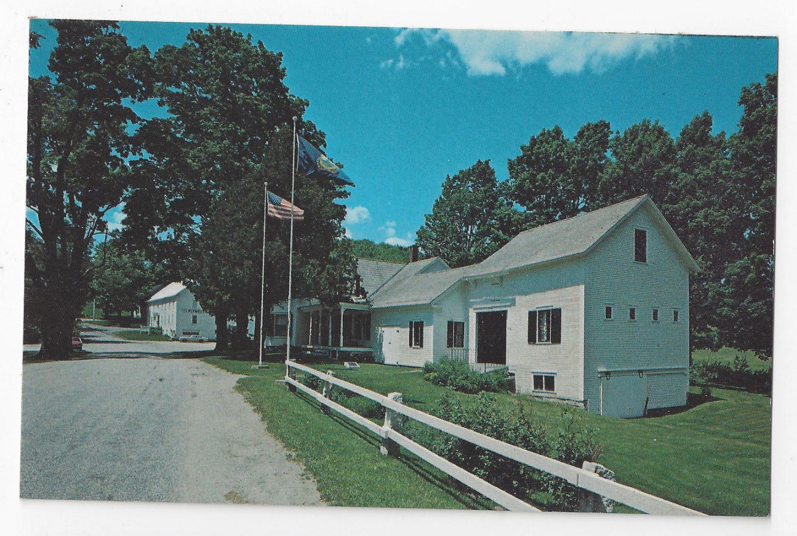 Plymouth Notch VT President Collidge Homestead Vintage Chrome Postcard