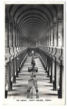 Ireland Dublin Trinity College Library Vtg 1954 Real Photo Postcard RPPC - $6.49