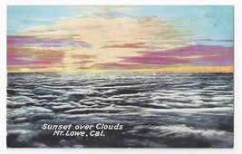 CA Mt Lowe Sunset over Clouds Vintage Postcard - $6.49