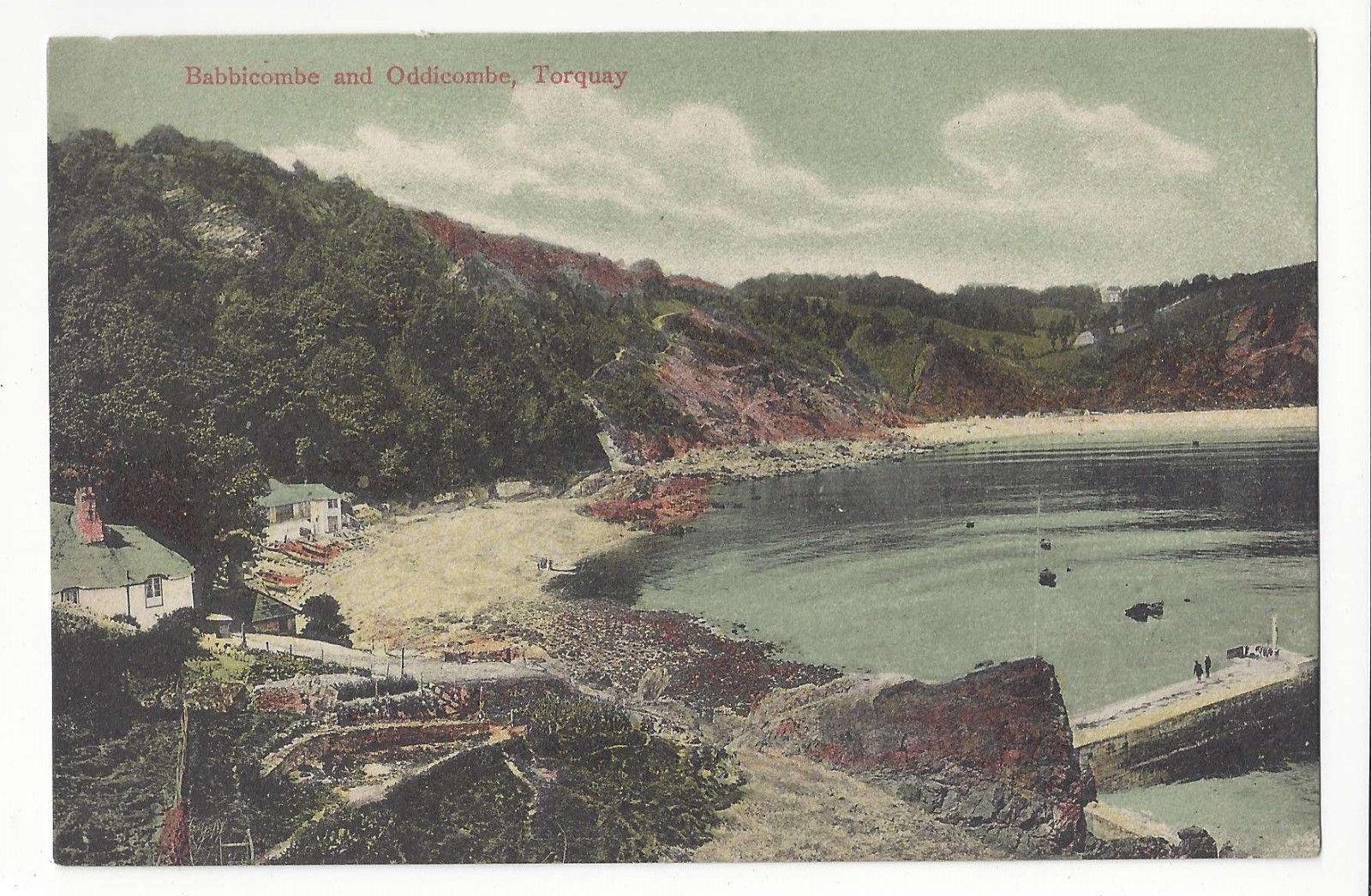 UK Devon Torquay Babbacombe Oddicombe Vtg C Way ca 1905 Postcard