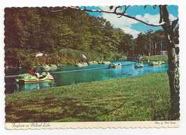 Tuxedo NY Sterling Forest Frog boats Holland Lake Vintage 1971 Postcard - $7.75