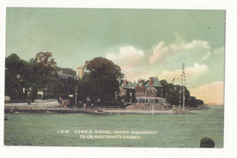 UK Isle of Wight Cowes Royal Yacht Squadron Club Trinity Church Vtg Post... - $7.75