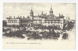 Florida St Augustine Hotel Ponce de Leon Foster Reynolds ca 1905 Postcard - $7.75