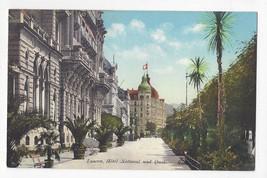 Switzerland Luzern Lucerne Kursaal Palace Hotel National und Quai Vtg Po... - $7.75