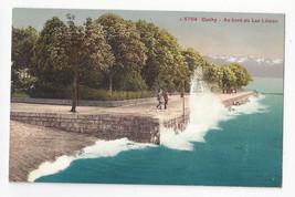 Switzerland Ouchy au bord du Lac Leman Vtg Photoglob Postcard c 1910 - $7.75