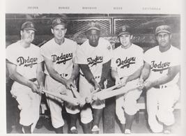 Jackie Robinson P 1955 Brooklyn Dodgers 25 8X10 BW Baseball Memorabilia ... - $5.99