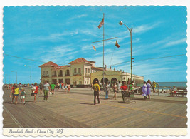 Ocean City NJ Boardwalk Music Pier Vintage Postcard 4X6 C. Thulin Photo - $5.81