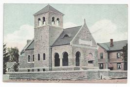 Rutland VT Baxter Memorial Library Leighton Vintage Vermont Postcard ca ... - $6.99