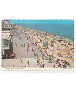 Rehoboth Beach MD Boardwalk Birds Eye View 1970s Paul Rodgers Postcard 4X6 - $7.75