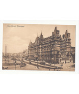 UK England Liverpool Lime Street North Western Railway Hotel Vtg Postcard - $6.69
