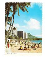 Hawaii Waikiki Beach Hotels Diamond Head 1974 Vtg Postcard 4X6 HI - $7.75