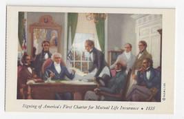 MA Boston Art Charles Hoffbauer Mural First Charter for Mutual Life Insu... - $6.49