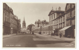 UK Oxford High Street RPPC Walter Scott Real Photo Postcard - $6.49