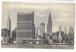 NY United Nations Building from East River Vintage Mayrose Co 1940s Post... - $6.49
