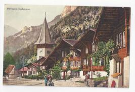 Switzerland Meiringen Dorfstrasse Vtg Postcard c 1910 - $5.50