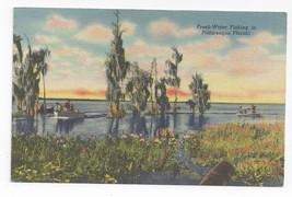 FL Fresh Water Fishing Vintage Curteich 1955 Linen Postcard - $6.49