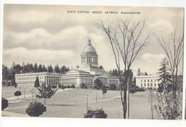 WA Olympia Washington State Capitol Building Vintage Mayrose Co 1940s Po... - $6.49