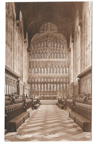 UK Gardens New College Chapel Interior Oxford Vtg Penrose & Palmer Postcard - $6.49